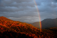 The Smokies:  Rainbow and Storms from Cosby Overlook